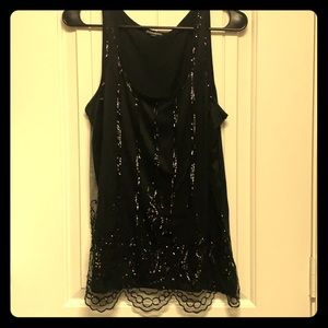 Express tank top with sequence overlay